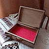 Шкатулка дерев'яна різьблена 21*15 для прикрас, ручна робота, фото 3