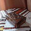 Шкатулка дерев'яна різьблена 21*15 для прикрас, ручна робота, фото 6