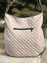Дута/стьобана зимова жіноча сумка бежева (1265169203), фото 3