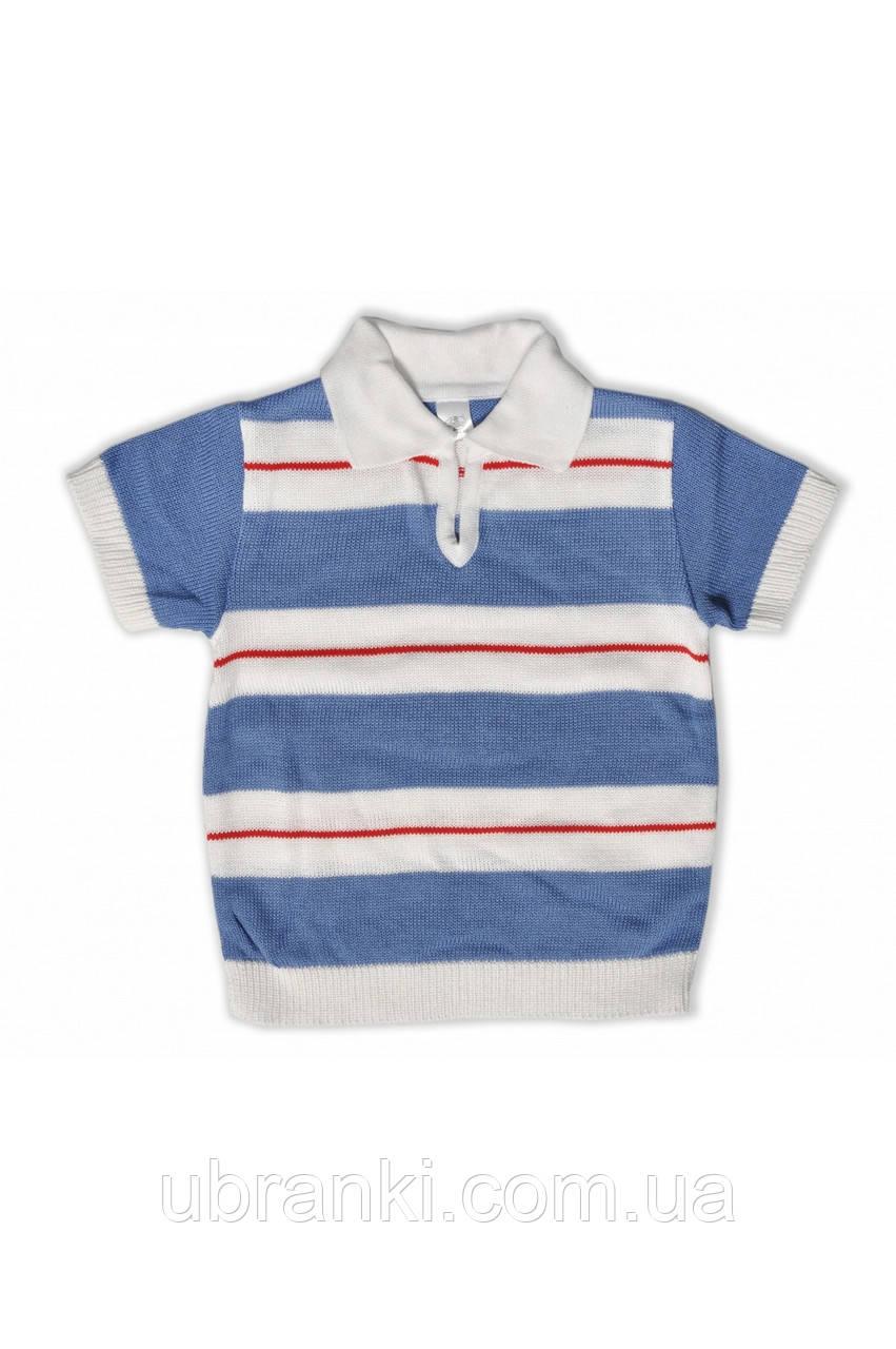 Стильная класическая  футболка для мальчика с воротником