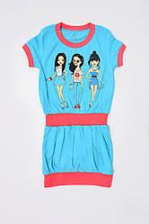 Платье детское для девочки с красивой печатью