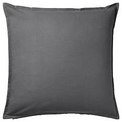IKEA ГУРЛІ (004.746.97)  Чохол для подушки , темно-сірий 50x50 см