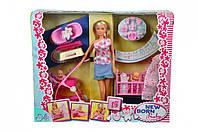 Штеффи с малышом и аксессуарами для ухода, кукольный набор, Steffi & Evi Love (573 0861)