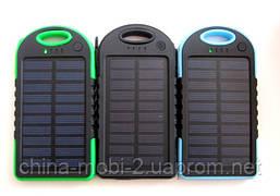 Power bank solar 30000 mAh + LED фонарик и зарядка от солнечной батареи, синяя, фото 3