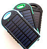 Power bank solar 30000 mAh + LED фонарик и зарядка от солнечной батареи, синяя, фото 2