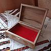 Шкатулка резная из дерева 21*15 с бархатом ручной работы, фото 4