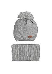Демисизонный комплект (шапка, хомут)