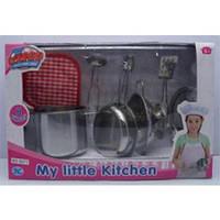 Кухонный набор 8 предметов, Tin Kitchen Tea set (S071)