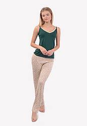 Комплект домашний майка штаны женский для дома и сна