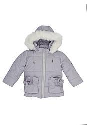Куртка зимняя для девочки с капюшоном