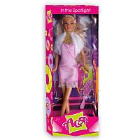 В свете софитов Набор с куклой 28 см, блондика в розовом платье Ася (35019)