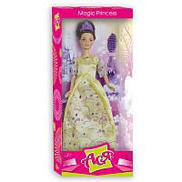 Волшебная принцесса Набор с куклой 28 см, брюнетка в золотом платье Ася (35020)