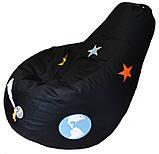 Кресло мешок груша пуф бескаркасное капля для детей Космос, фото 8