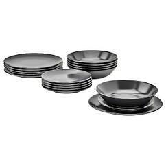 IKEA ДІНЕРА (704.239.92) Сервіз 18 предметів - темно-сірий