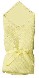 Вязаный теплый конверт-одеялко