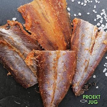 Янтарная с перцем солено - сушеная  (рыбка путассу с перцем) снек, отличного качества