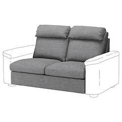 IKEA ЛІДХУЛЬТ (092.898.84)  2-місна секція - ЛЕЙДЕ сірий/чорний 95х76х141 см