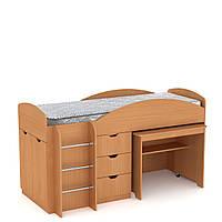 Детская двухъярусная кровать Универсал с ящиками, бортиком, лестницей и столом 194х89х106 см (Компанит)