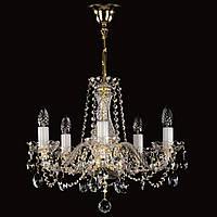Хрустальная 5 ламповая люстра для спальни, зала