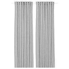 IKEA ОРДЕНСФЛАЙ (004.250.08) Штори, 1 пара, білий/темно-сірий 145x300 см