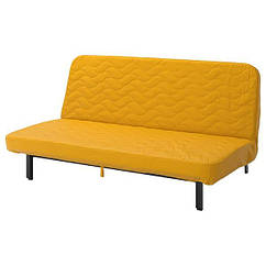 НІХАМН 3-місний диван-ліжко - матрац з блоком незалежних пружин/СКІФТЕБУ жовтий - IKEA