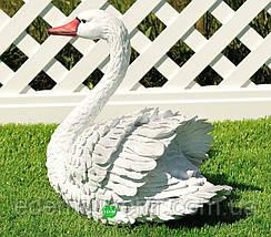 Садовая фигура Лебедь белый и Лебедь черный, фото 3