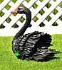 Садовая фигура Лебедь белый и Лебедь черный, фото 4