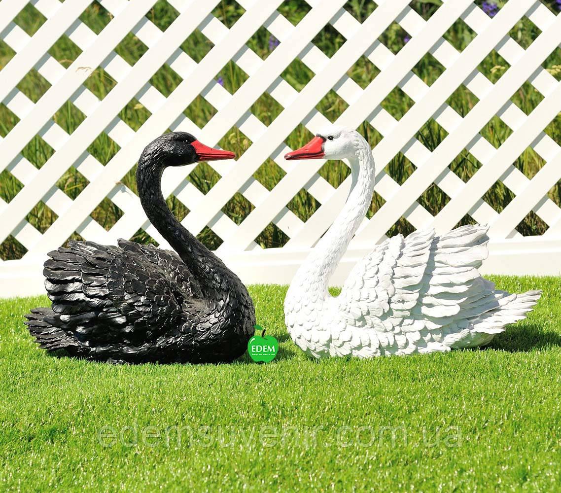 Садовая фигура Лебедь белый и Лебедь черный