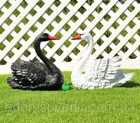 Садовая фигура Лебедь белый и Лебедь черный, фото 2