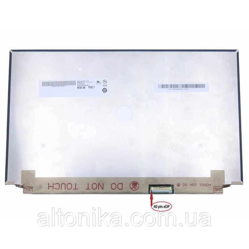 """+LCD 13.3"""" B133ZAN01.1 Тонкая/  Глянцевая/  ШлейфСправаВнизу 40пин 4K"""