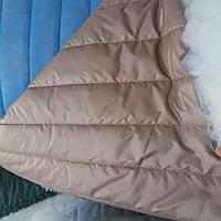 Стеганная ткань плащевка на синтепоне для пошива верхней одежды ширина 150 см сублимация стеганная-049 беж, фото 1