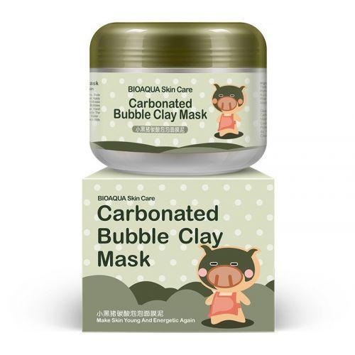 Маска для лица BIOAQUA Skin Care Carbonated Bubble Clay Mask кислородная пузырьковая очищающая и отшелушивающа
