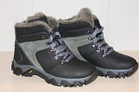 Ботинки зимние кожаные на мальчика 34,36 р Konors арт 1011-7.