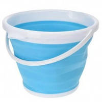 Складное силиконовое туристическое ведро Collapsible Bucket 3л