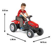 Трактор на аккумуляторе Pilsan Active Tractor 05116 красный