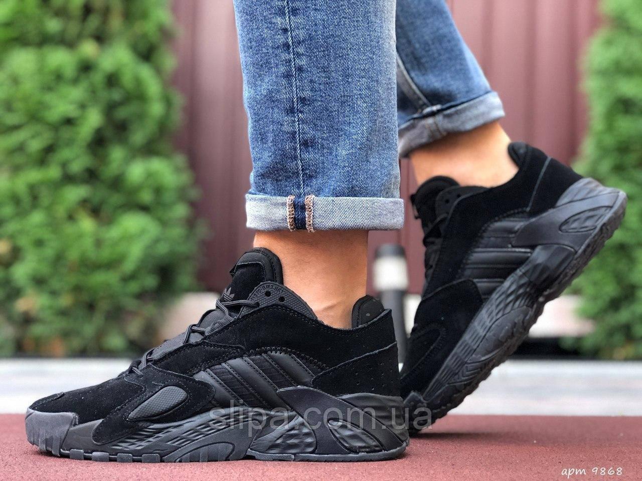 Чоловічі замшеві кросівки Adidas Streetball чорні 46 розмір