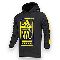 "Худи черный/ желтый ADIDAS ""NYC"" Р-6 BLK/YEL M(Р) 20-480-601"