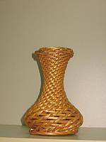Ваза, плетеная, лоза, Н 20 см, Декор для дома, Днепропетровск