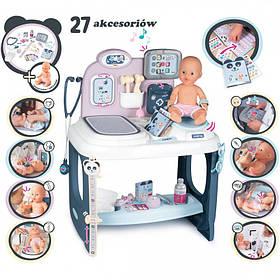 Игровой набор Smoby Toys  Baby Care Уход за куклой с куклой, акс., звук и свет эффектами (240300)