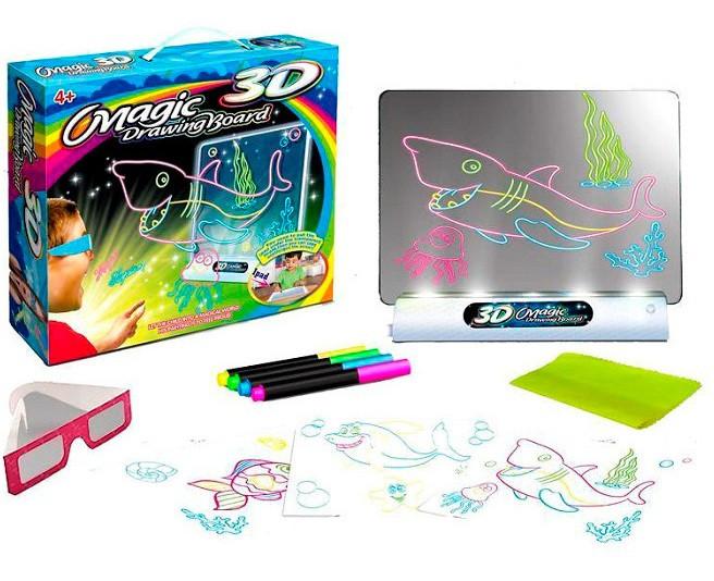 Интерактивная доска для рисования MAGIC Drawing Board 3D (Рыбы)