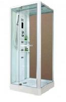 Гидробокс MIRACLE 80х100х15, прозрачное стекло, низкий поддон, NA112-3