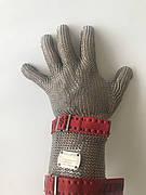 Кольчужная перчатка с тканевым ремешком и отворотом 8см Schlachthausfreund (Германия)