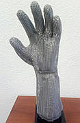Кольчужная перчатка с металлической застежкой и отворотом 19см Schlachthausfreund (Германия)