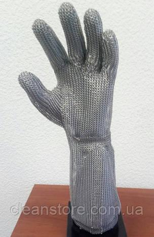 Кольчужна рукавиця з металевою застібкою і відворотом 19см Schlachthausfreund (Німеччина), фото 2