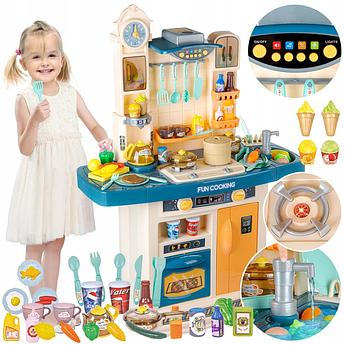 Детская большая интерактивная кухня с водой Fun Cooking бирюзовая 100 см
