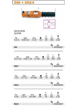 """Ключ динамометричний BETA 592/3 1-27NM 3/8"""", фото 2"""