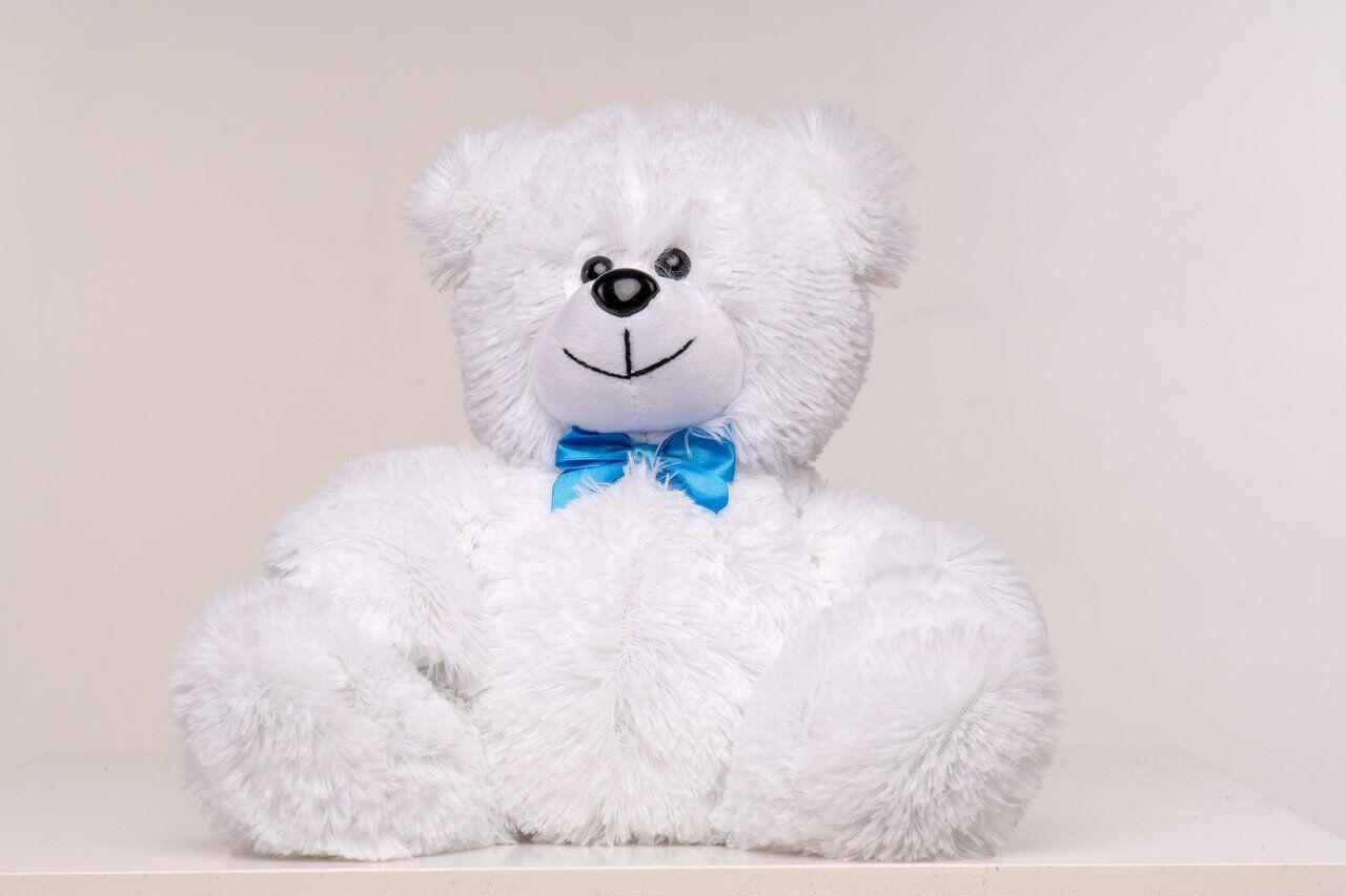 Плюшевый мишка Yarokuz Рональд 35 см Белый