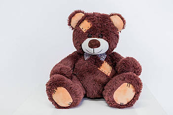 Мишка с латками плюшевый Yarokuz Теодор 65 см Шоколадный