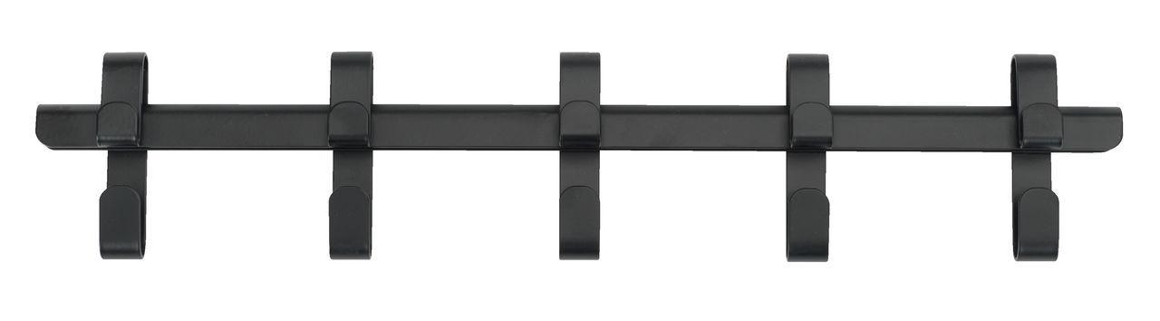 Вешалка настенная 5 крючков для одежды черная