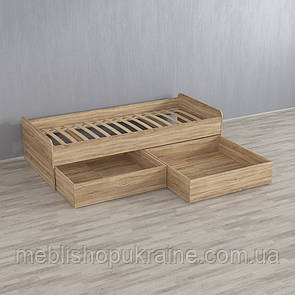 Кровать (с двумя шухлядами) Дуб Сонома
